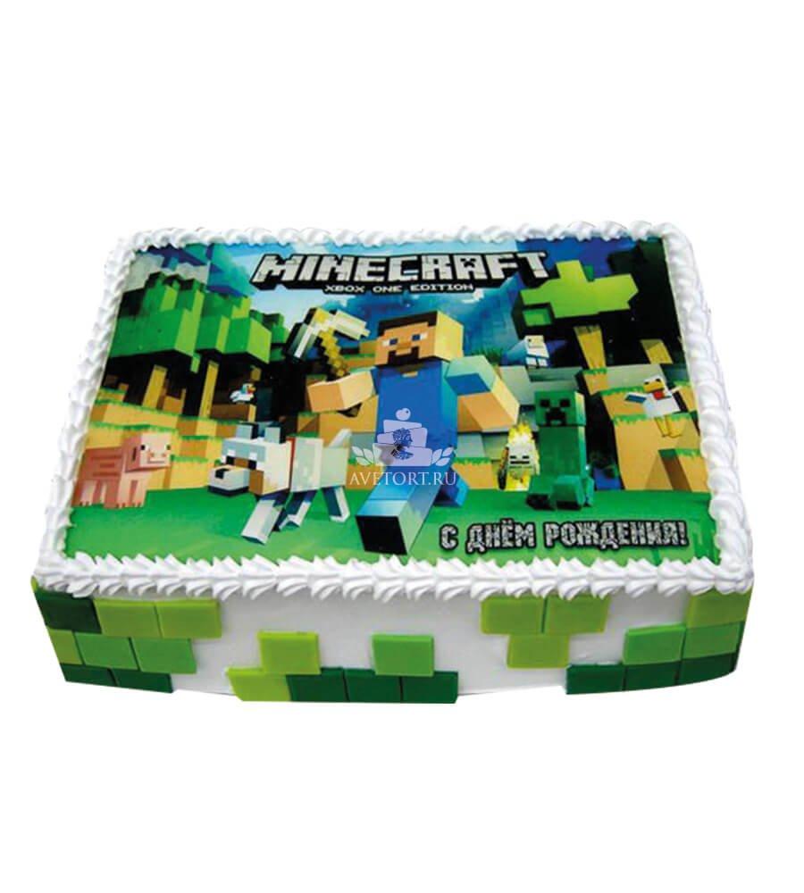 Торт майнкрафт фото для мальчиков