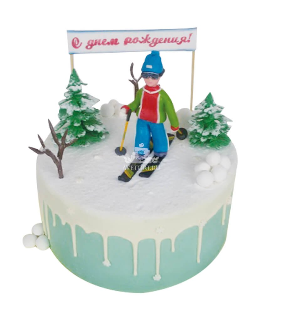 Открытка тренеру по лыжам