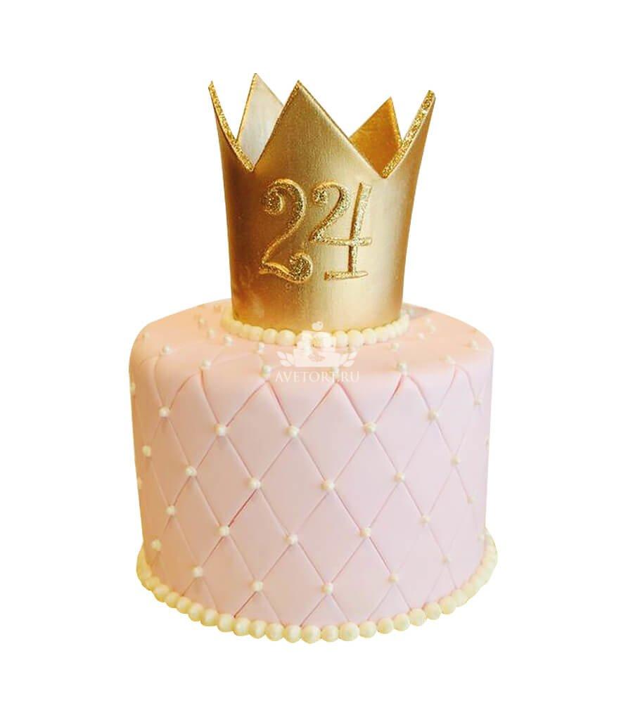 Торт для девочек в виде короны своими руками
