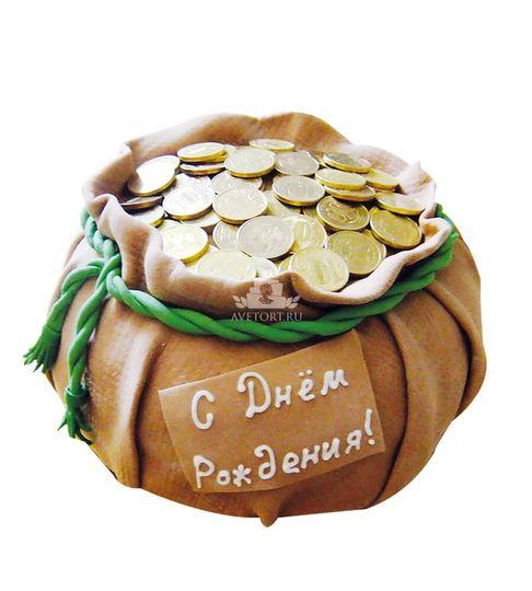 торт мешочек с монетами фото накладных встроенных