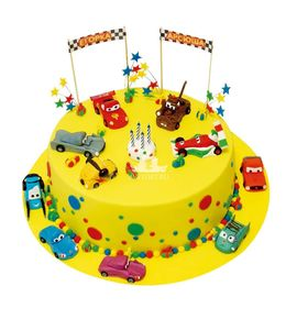 Торт Машинки на Дне Рождения