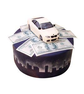 Торт Машинка с деньгами
