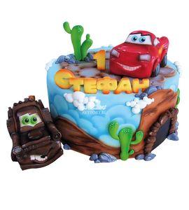 Торт Машинки на 1 годик