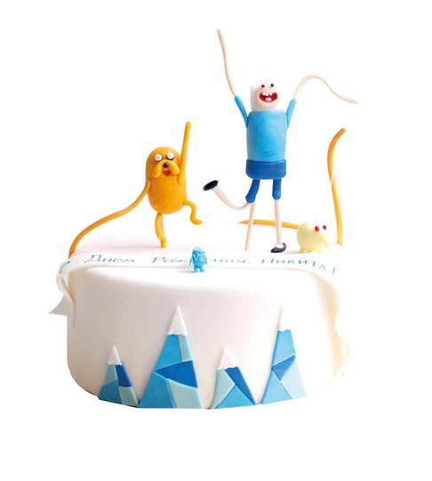 картинка на торт фин и джейк пират череп шляпа